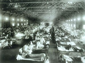 Camp Funston's emergency hospital. Doesn't look that fun to me.
