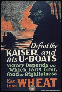Keep Calm And DON'T EAT WHEAT. Britain's propaganda posters are a bit catchier.