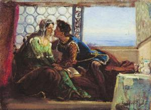 Romeo and Juliet by Konstantin Makovsky, c1980
