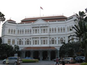 The Raffles Hotel in Singapore. So expensive I can barely afford to look at it .